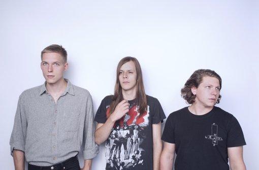 Max Rieger, Kevin Kuhn und Julian Knoth sind Die Nerven Foto: Patrick Herzog
