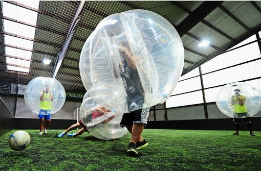 Fun Sport Bubble Fussball Fussball In Der Blase Fussball
