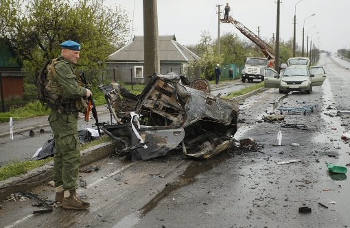Kämpfe in  Ukraine flammen wieder auf