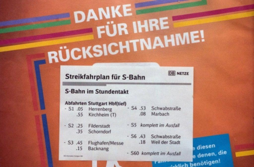 Streik Bahn Notfahrplan