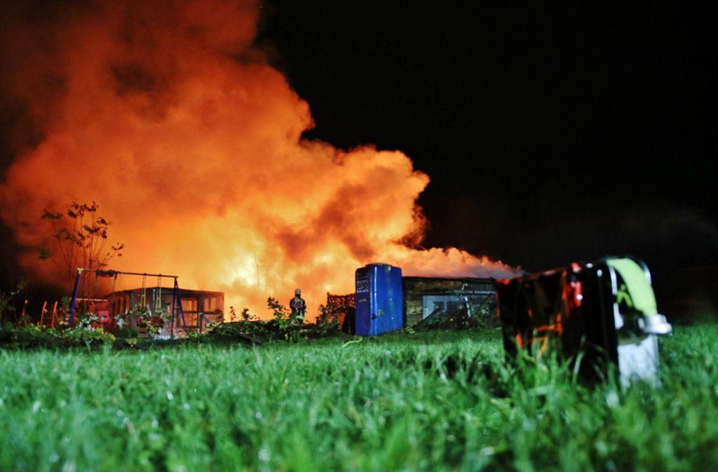 Brände in Sulzbach und Schorndorf - Gartenhäuser in Flammen - Stuttgarter Nachrichten
