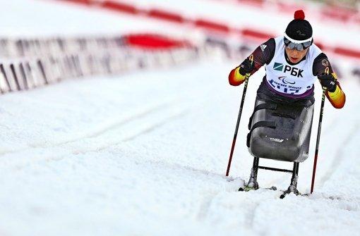 Andrea Eskau gibt im Schlitten Vollgas. Auch bei  der WM 2017 will sie vorneweg fahren – genauso wie bei Olympia in Rio mit dem Handbike Foto: dpa