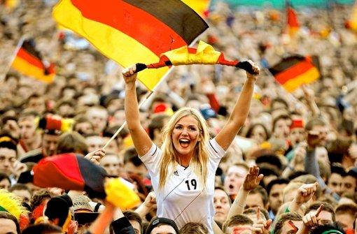 Fans im Fußballfieber. Foto: dapd