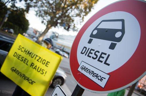 Greenpeace-Protest am Neckartor