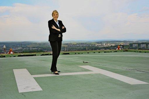 Nach sieben Jahren beim Klinikverbund Südwest  macht  Elke Frank nun den Abflug zum  Mainzer Uniklinikum. Foto: Klinikverbund Südwest