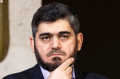 Führender Unterhändler der syrischen Opposition tritt zurück