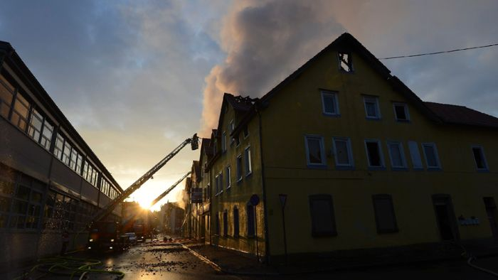 Mehrere Tote bei Brand in Backnang