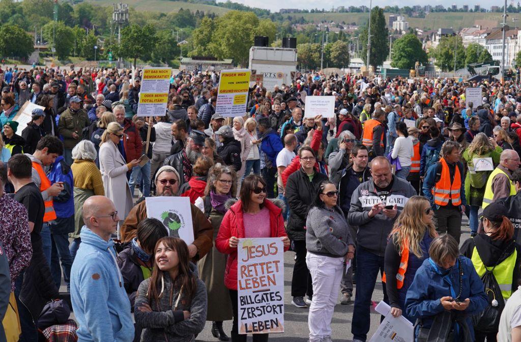 Demo Gegen Corona Stuttgart