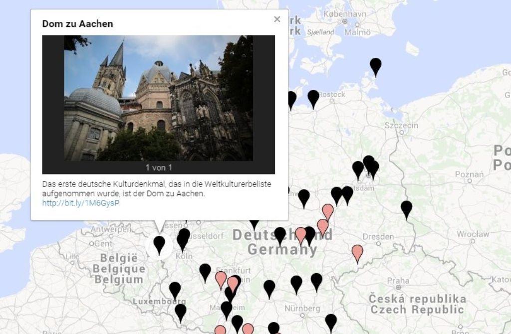 Interaktive Karte Dem Welterbe Auf Der Spur Kultur