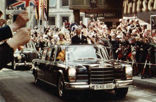 Als die Queen durch Stuttgart fuhr