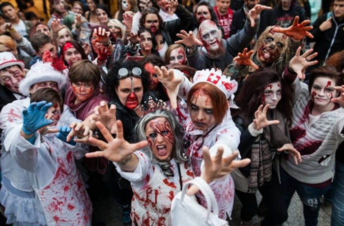 Zombie-Walk in Stuttgart: Die Untoten waren in der City los