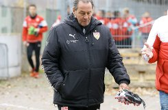 Der Holländer bat die VfB-Spieler zu einem nicht öffentlichen Training. Foto: Pressefoto Baumann