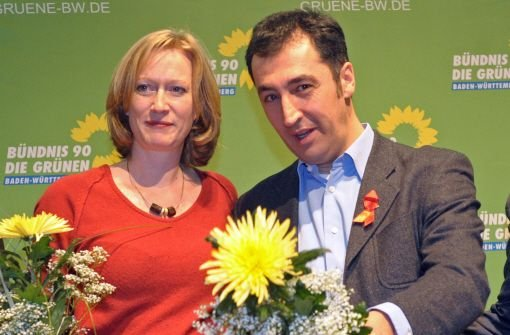 Der Landesparteitag der Südwest-Grünen in Böblingen wählte Cem Özdemir und Kerstin Andreae zu den Spitzenkandidaten. Foto: dpa