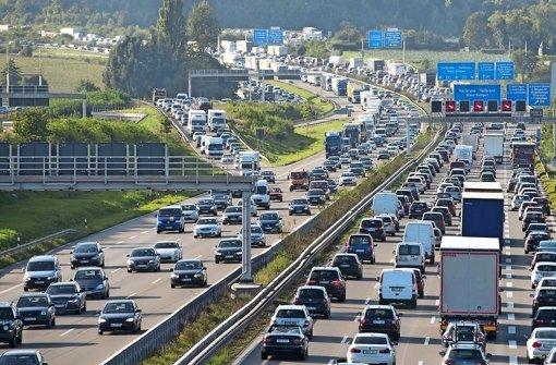 Autobahn A8 bei Stuttgart auf Platz zwei