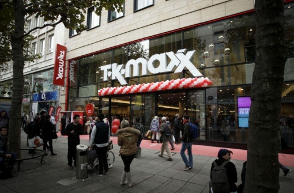 Neueröffnung Von Tk Maxx Schnäppchen Markt Auf Der Königstraße