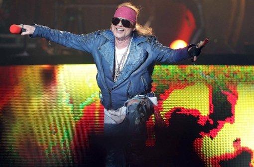Guns N Roses waren Ende der 1980er und Anfang der 1990er Jahre extrem erfolgreich, ehe die Band Mitte der 1990er auseinanderbrach - die Gunners verkamen zu einer One-Man-Show des Frontmans Axl Rose. Foto: EFE