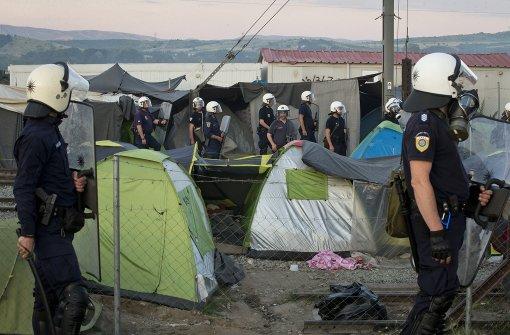 Griechische Polizei setzt Tränengas ein