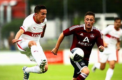 Die B-Junioren bei einem Spiel gegen Nürnberg. Foto: Baumann
