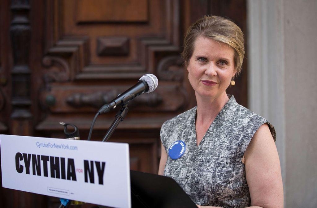 cynthia nixon will gouverneurin werden ein langer weg von sex and the city in die politik. Black Bedroom Furniture Sets. Home Design Ideas