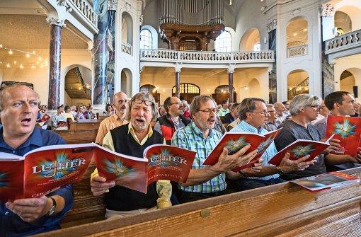 Hunderte Sänger proben für das Luther-Oratorium