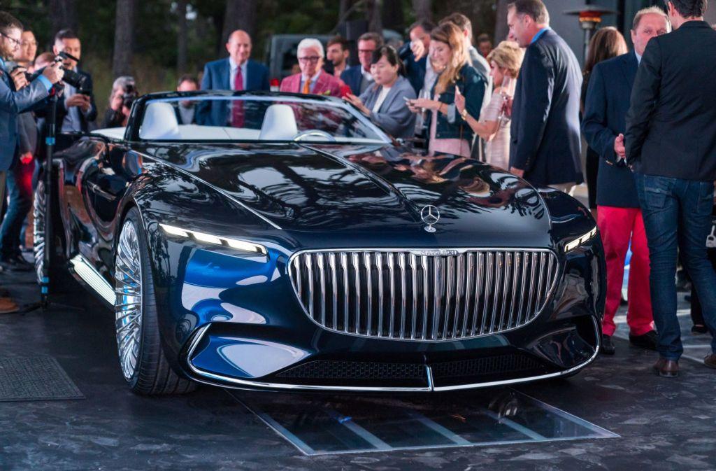 mercedes maybach 6 cabriolet: daimler präsentiert sechs-meter