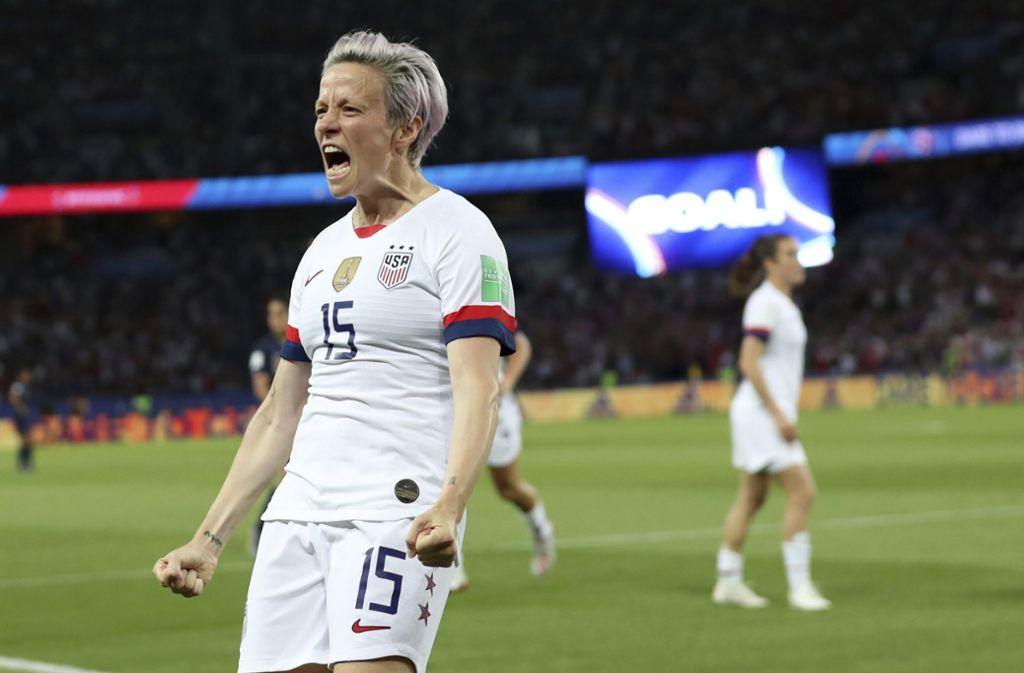 Fussball Wm Der Frauen Rapinoe Trifft Doppelt Usa Beenden