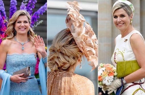 Een onmisbaar accessoire bij al haar Berlijnse outfits: de warme glimlach van koningin Maxima.  Foto: imago / PBM / foto van de toekomst