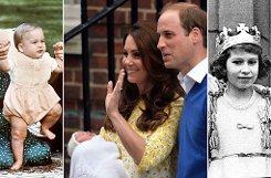 Drei Generationen von Windsors: Queen Elizabeth II. (rechts), ihr Enkel William (links) und ihre jüngste Urenkelin. Foto: dpa