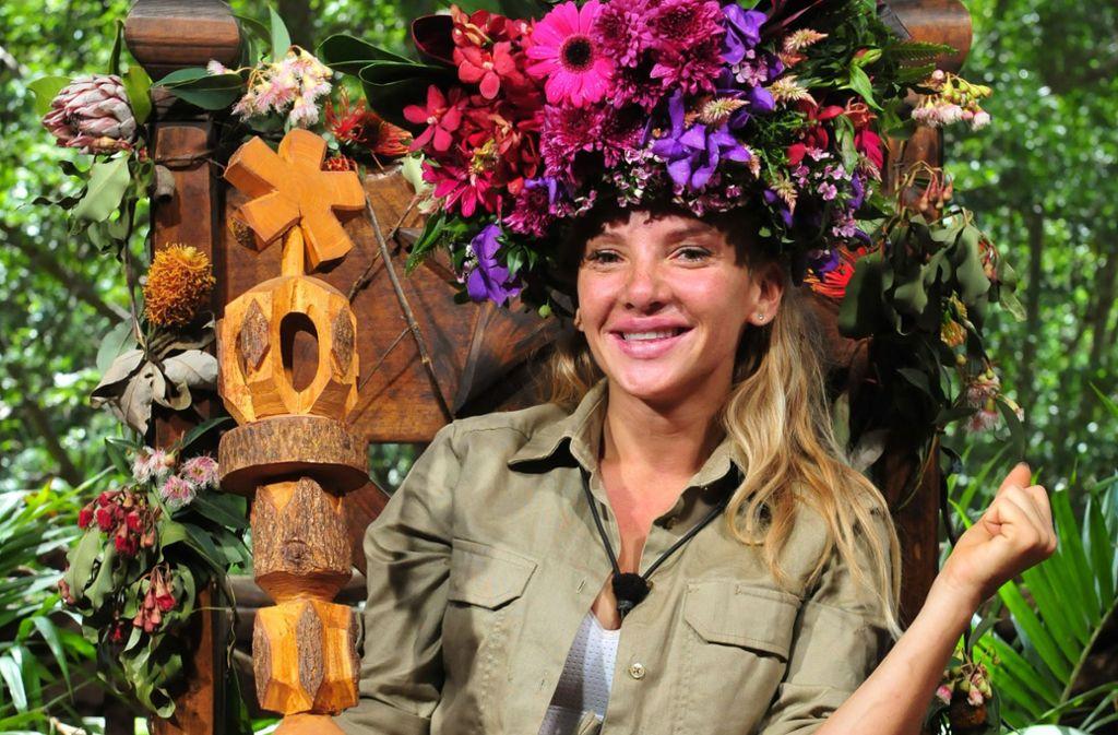 Evelyn Burdecki hat das Dschungelcamp für sich entschieden. Foto: RTL
