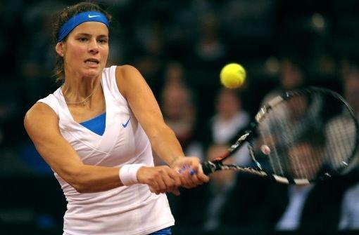 Julia Görges, deutsche Tennisspielerin aus dem hohen Norden (Bad Oldesloe in Schleswig Holstein) drückt nicht etwa Bremen oder Hamburg die Daumen, der ... Foto: dpa