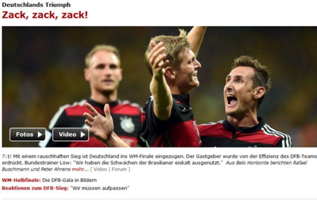 Dfb Sieg Gegen Brasilien Wm Pressestimmen Zack Zack Zack