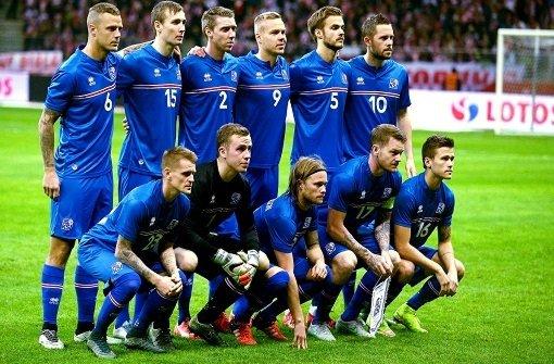Aufstellung Frankreich Island