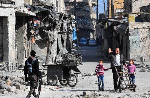 Furcht vor den Soldaten des Regimes