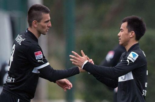 Shinji Okazaki (rechts) trifft: Mit einem 1:1 im Testspiel gegen den niederländischen Erstligisten RKC Waalwijk beendet der VfB Stuttgart sein Trainingslager in Belek. Noch mehr Bilder aus der Türkei sehen Sie hier! Foto: dpa