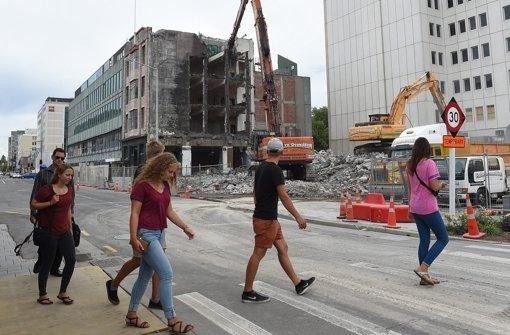 Nach dem Erdbeben:  In Christchurch wird die Stadt ganz neu gestaltet Foto: dpa