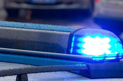 Motorradfahrer kracht gegen Polizeiauto und verletzt sich schwer
