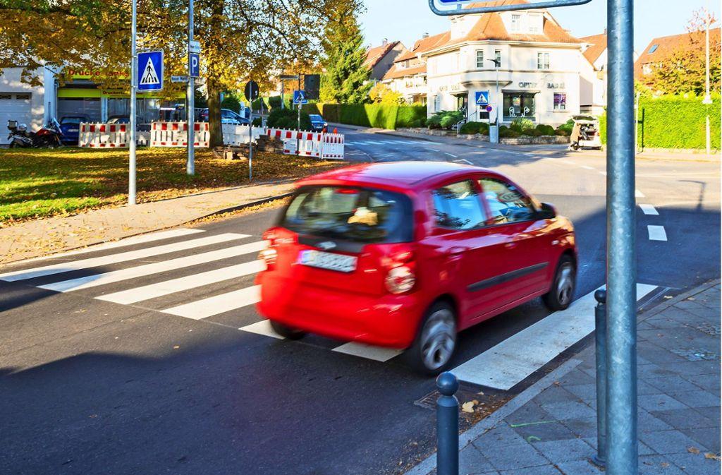 Leinfelden-Echterdingen - Versetzter Zebrastreifen wirft Fragen auf - Stuttgarter Nachrichten