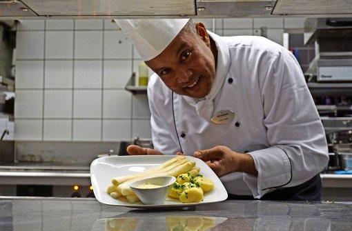 Der Koch mit der eigenen Sprache