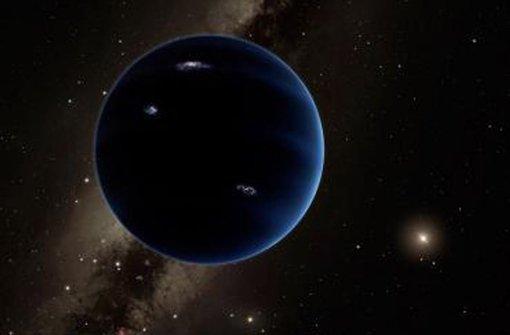 """Der unbekannte Neue: Die  Illustration zeigt """"Planet Neun"""" und (rechts) die  weit von ihm entfernte Sonne. Foto: dpa"""