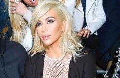 Reality-TV-Star bKim Kardashian/b hat bei der Pariser Fashion Week - und kurz vor dem Start einer neuen Staffel ihrer Reality-Show - mit einer neuen Haarfarbe überrascht. Die Frau von Rapper Kayne West trägt jetzt Platinblond. Foto: Getty Images