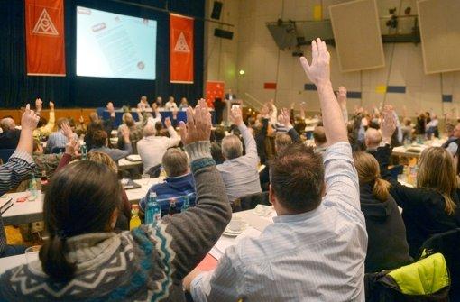 Breite Mehrheit in der Großen Tarifkommission für die Lohnforderung Foto: dpa