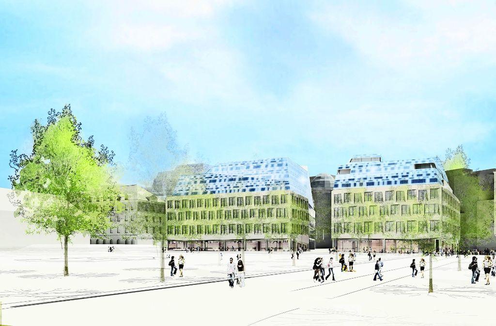 Dorotheen-Quartier in Stuttgart: Streit übers Dach des neuen ...
