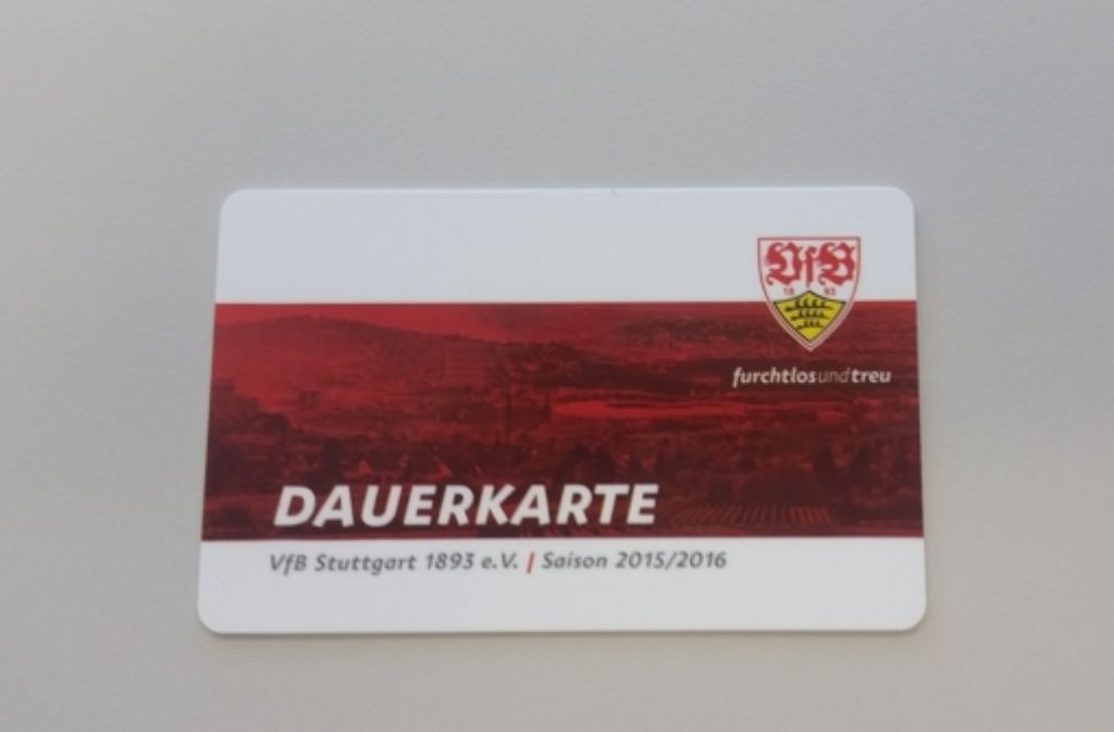 Dauerkarte Vfb