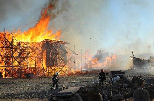 Feuer zerstört berühmte Kulissenstadt