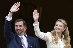 Ja-Sager: Stéphanie de Lannoy und Erbgroßherzog Guillaume von Luxemburg sind verheiratet - standesamtlich zumindest. Foto: dpa