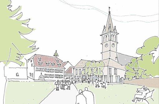 Grundsteinlegung fürs Haus der Kirche