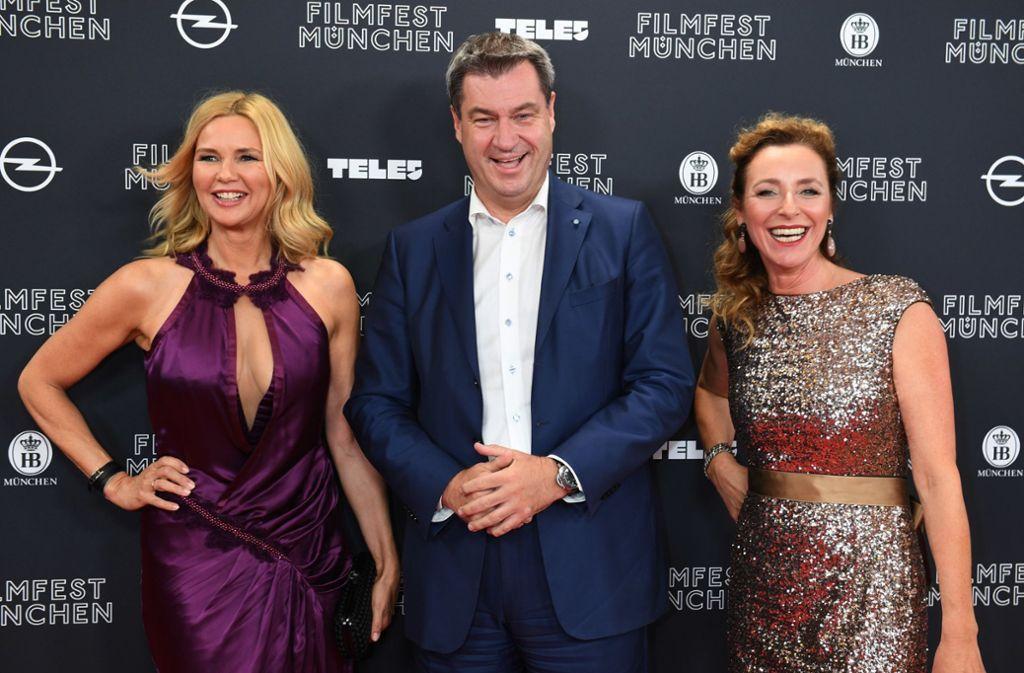 Veronika Ferres Markus Söder Und Lars Eidinger Filmfest In München