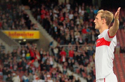 VfB-Verteidiger Georg Niedermeier fällt im Spiel gegen Steaua Bukarest am Donnerstag aus. Foto: Pressefoto Baumann