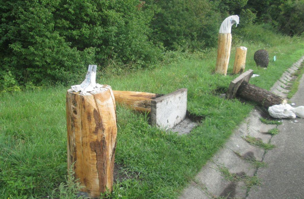 Skulpturenweg in Korb: Köpfe-Kunstwerke enthauptet - Rems-Murr-Kreis ...