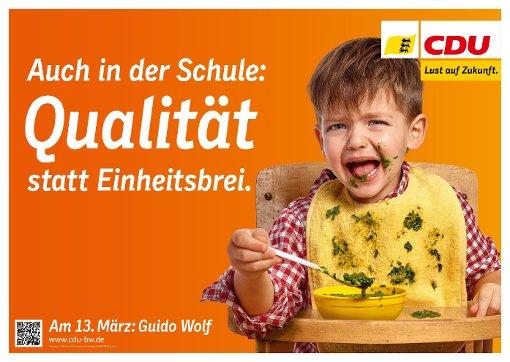 Das CDU-Wahlplakat zum Thema Bildung Foto: Nora Chin